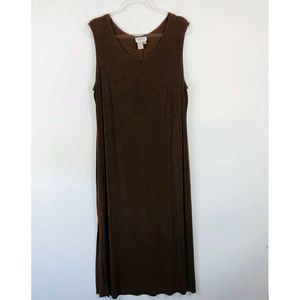 Coldwater Creek Brown Sleeveless Maxi Dress